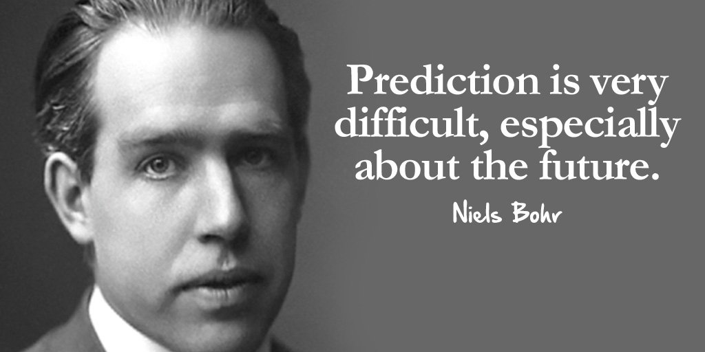 Predicted quote Prediction is very difficult, especially about the future.