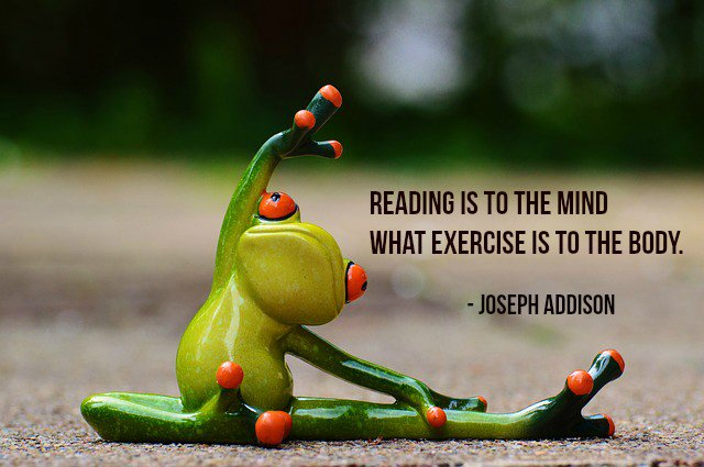 reading is to the mind what exercise is to the body in hindi