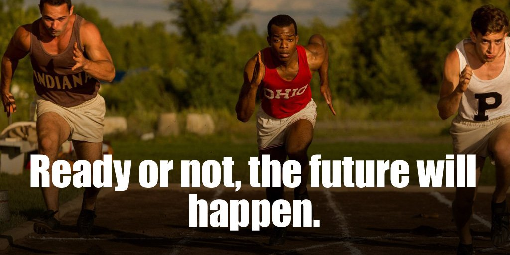 Happen quote Ready or not, the future will happen.