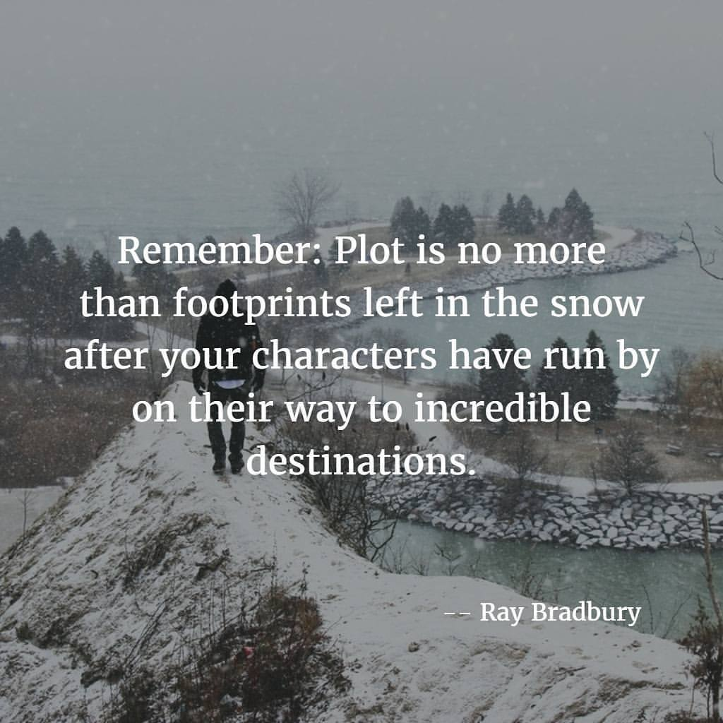 Snows quote Remember: Plot is no more than footprints left in the snow aftter your character