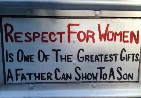 Women empowerment quote Respect for women is one of the greatest gifts a father can show to a son.