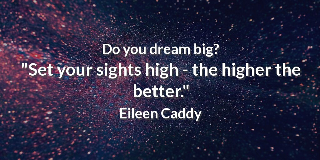 Sight quote Set your sights high, the higher the better.