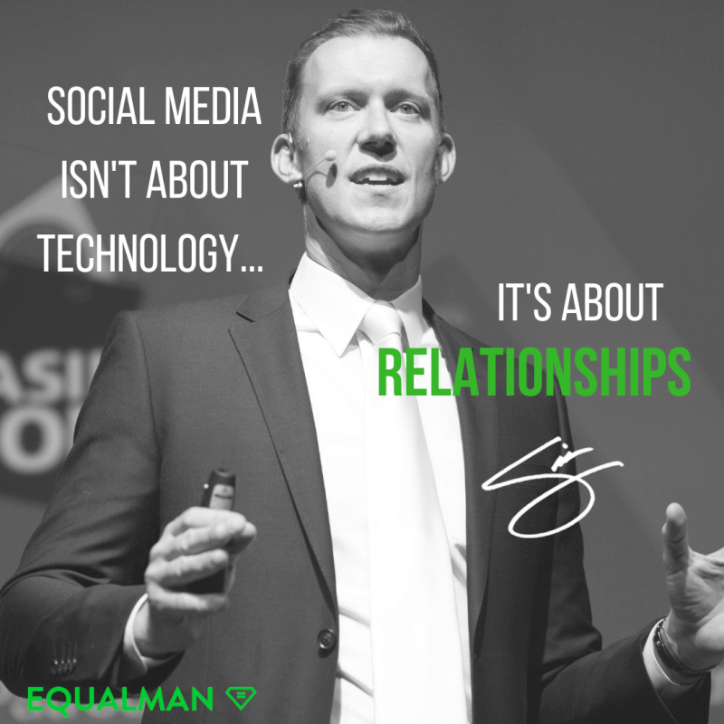 Technology quote Social media isn't about technology. It's about relationships. 3 things you can