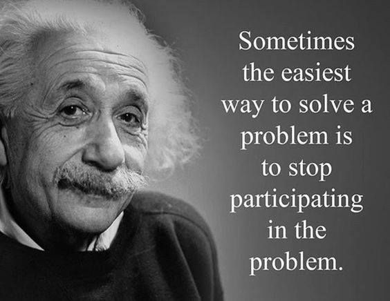 Picture quote by Albert Einstein about problem