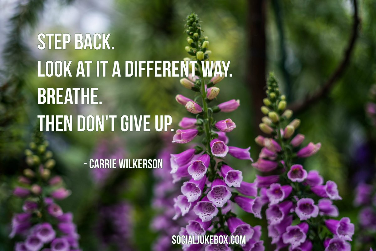 Differences quote Step back. Look at it a different way. Breathe. Then don't give up.