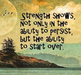 Starting quote Strength shows, not only in the ability to persist, but the ability to start ove