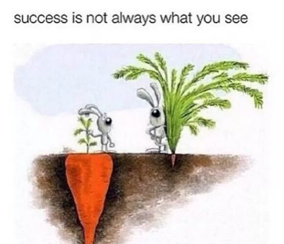 Results quote Success is not always what you see.