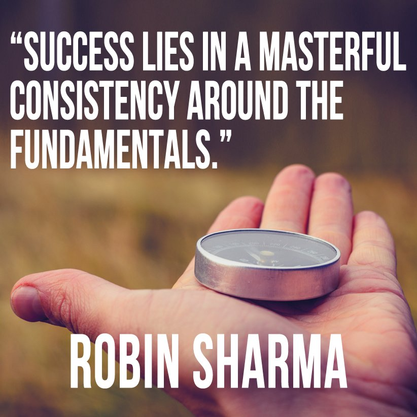 Success Lies In A Masterful Consist Robin Sharma Success Image