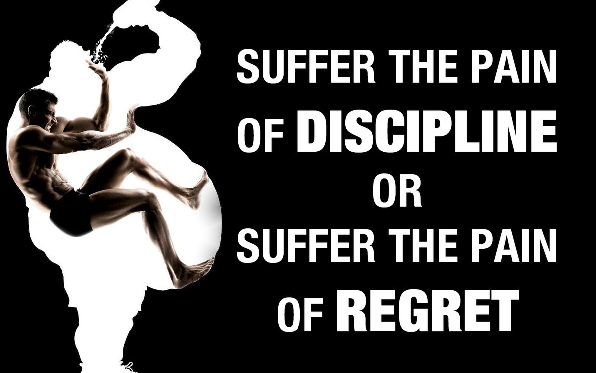 Suffering quote Suffer the pain of discipline or suffer the pain of regret.