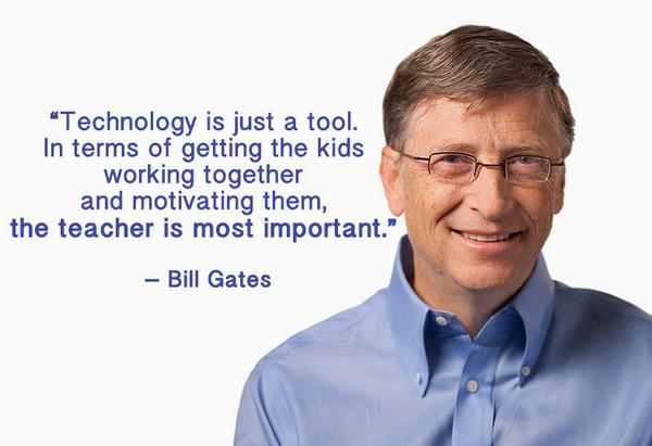 Technology quote Technology is just a tool. In terms of getting the kids working together and mot