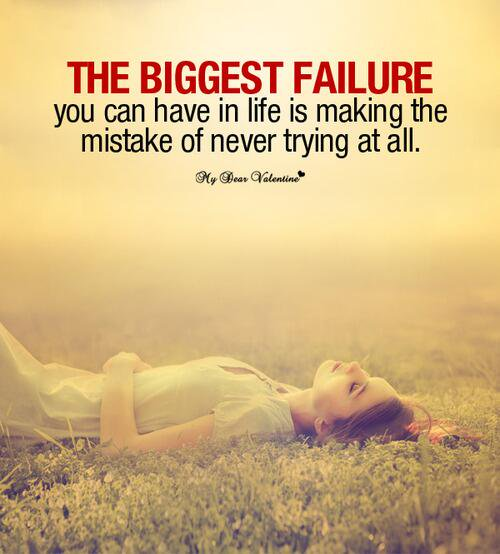 I make mistakes quote The biggest failure you can have in life is making the mistake of never trying a