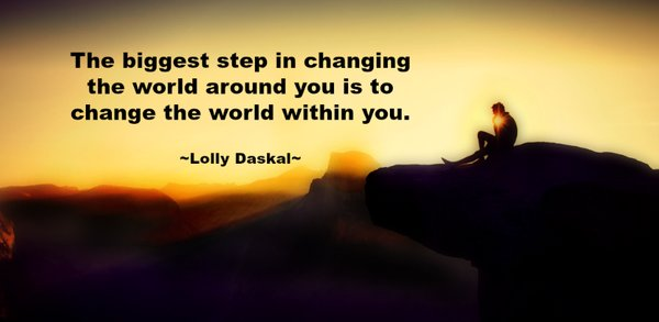 Picture quote by Lolly Daskal about change