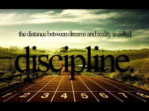 Dream reality quote The distance between dreams and reality is called discipline.