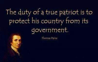 Mother country quote The duty of a true patriot is to protect his country from government.