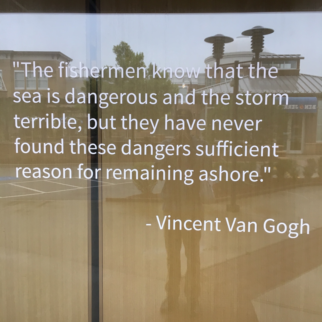 The fishermen know that the sea is dangerous and the storm is terrible
