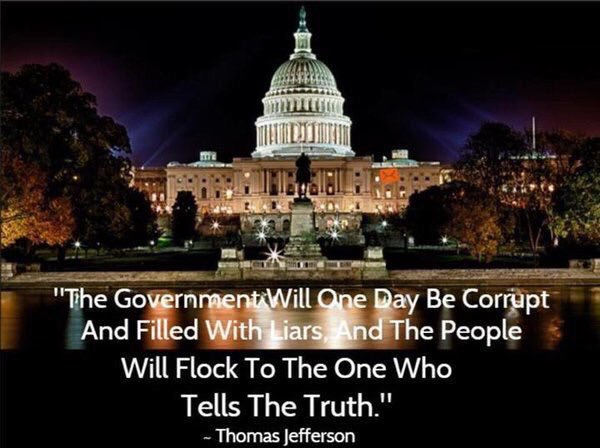 Government and society quote The government will one day be corrput and filled with liars and the people will