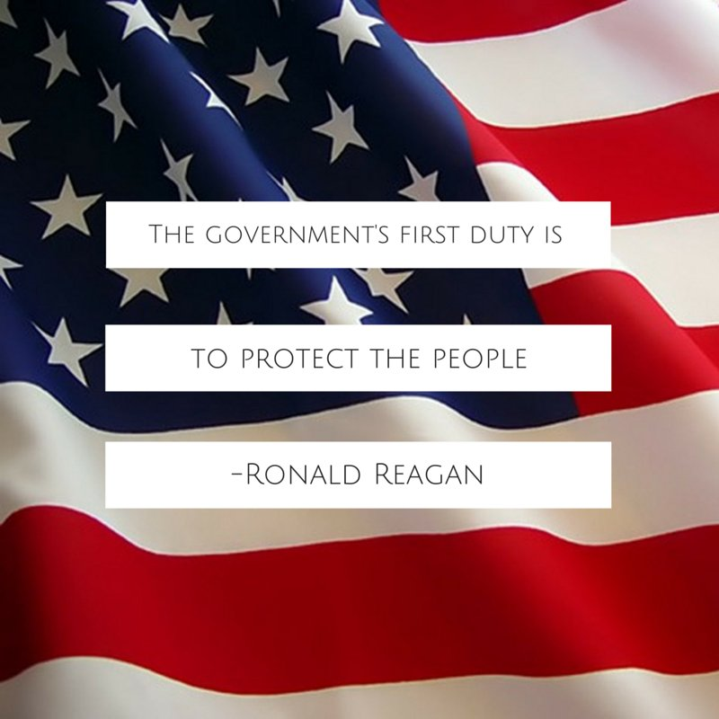 Forms of government quote The government's first duty is to protect the people.