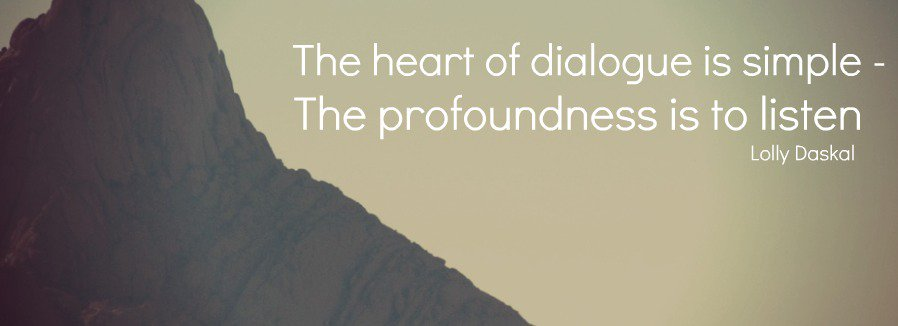 Picture quote by Lolly Daskal about dialogue