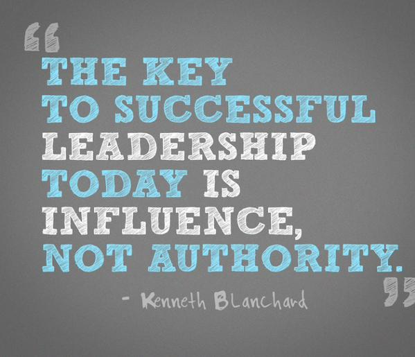 Authorizing quote The key to successful leadership today is influence, not authority.