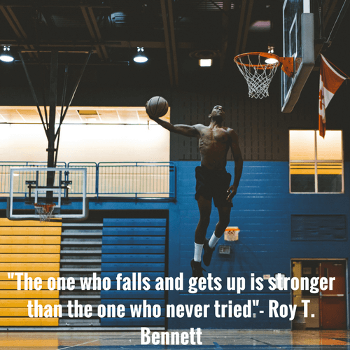 The one who falls and gets yp is stronger than the one who never tried. - Roy Bennett