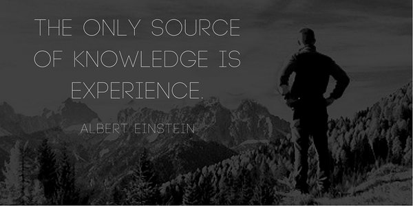 Picture quote by Albert Einstein about experience
