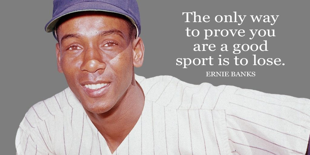 Sports quote The only way to prove you are a good sport is to lose.