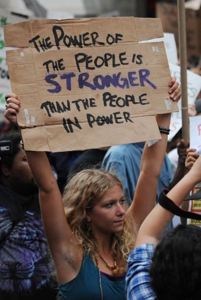 The power of the people is stronger than the people in power. - Sayings