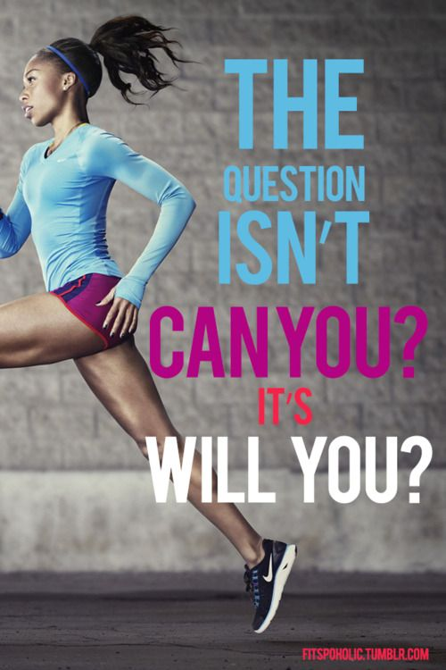 Fitness quote The question isn't can you, It's will you ?