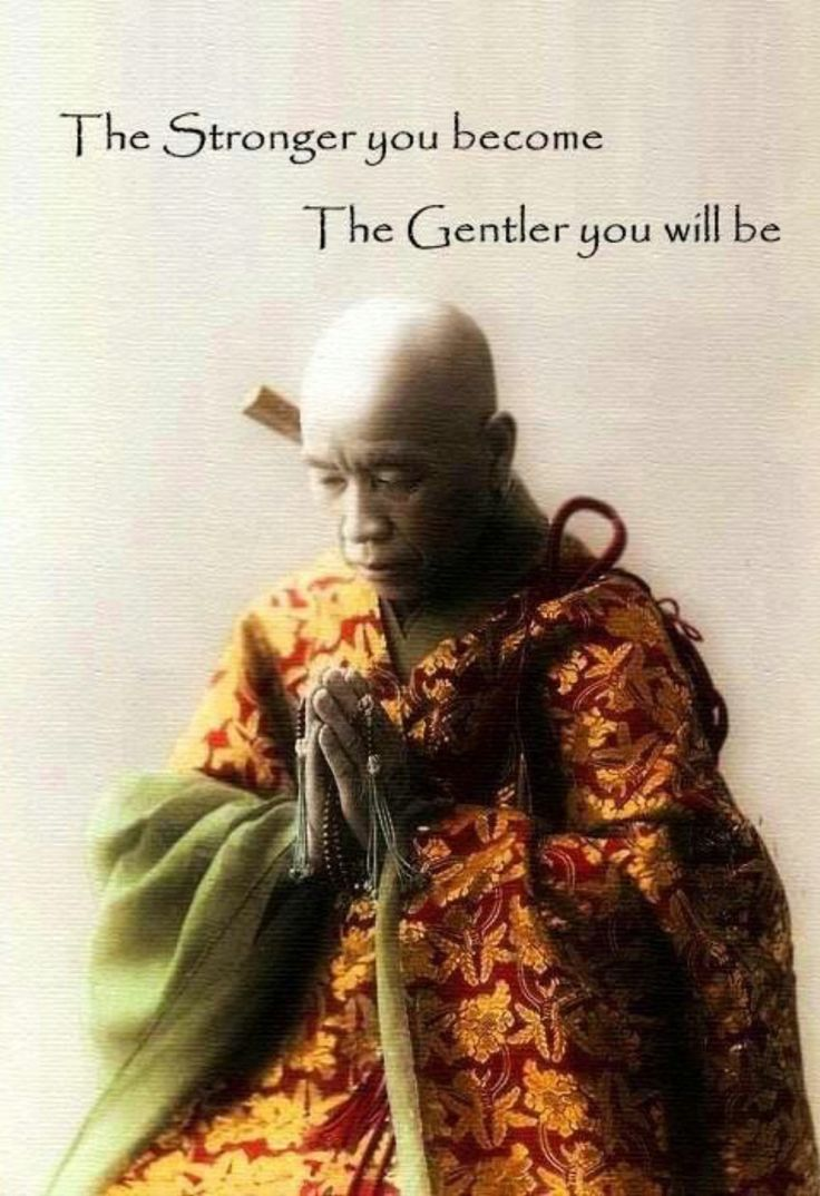 Gentle quote The stronger you become, the gentler yoiu will be.