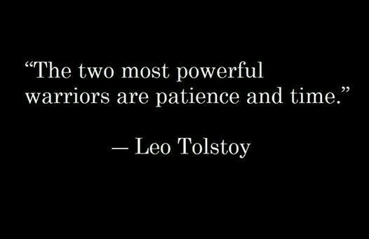 Powerful quote The two most powerful warriors are patience and time.