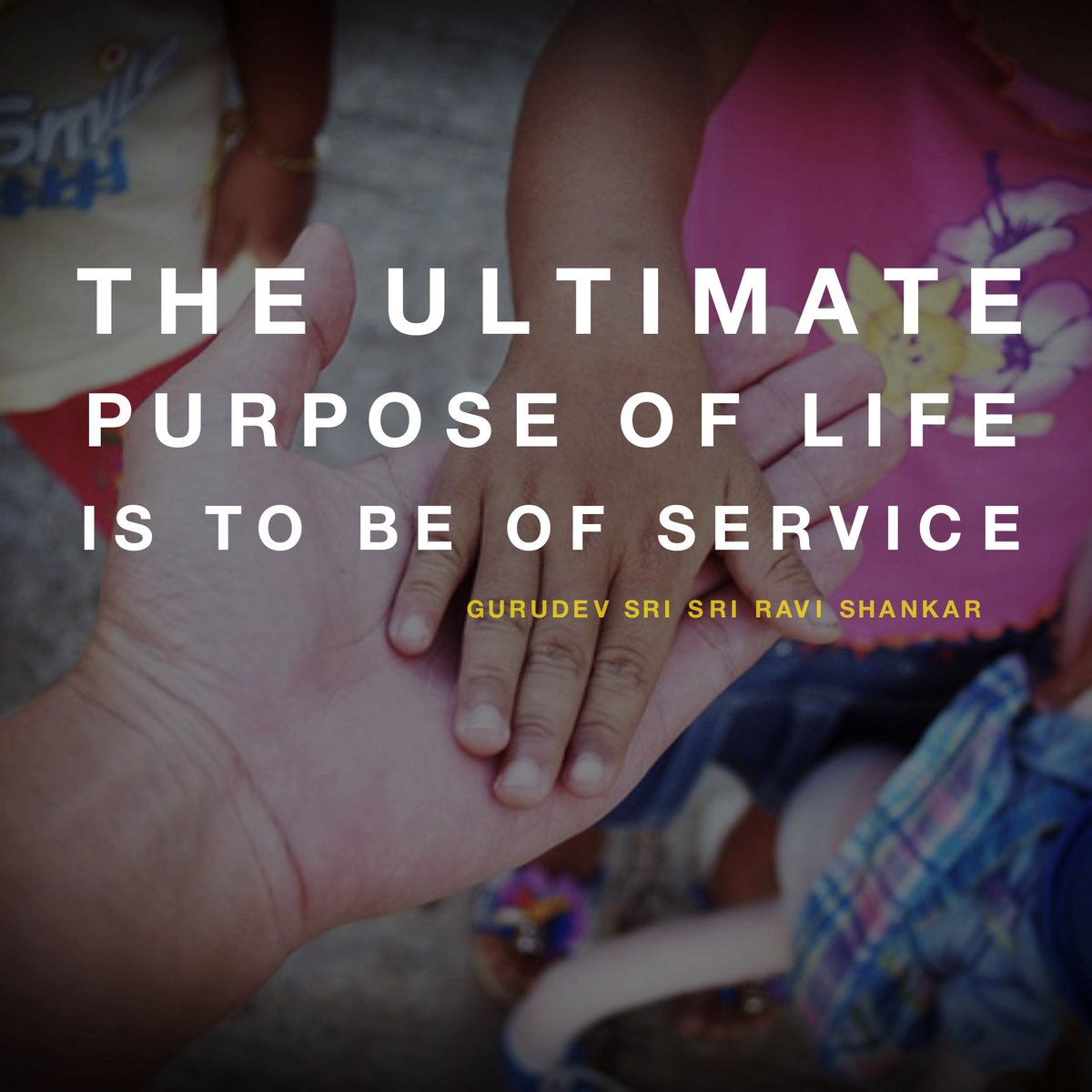 Serviceable quote The ultimate purpose of life is to be of service.