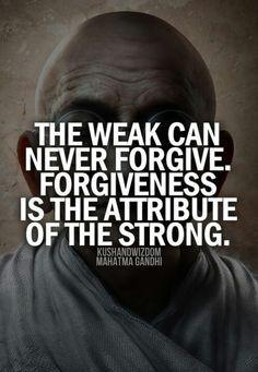 Forgiveness image quote by Mahatma Gandhi