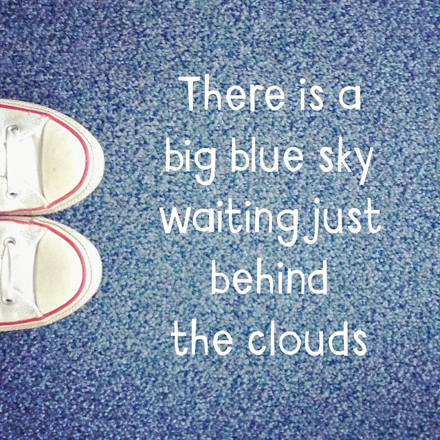 There Is A Big Blue Sky Waiting Jus Inspirational Image