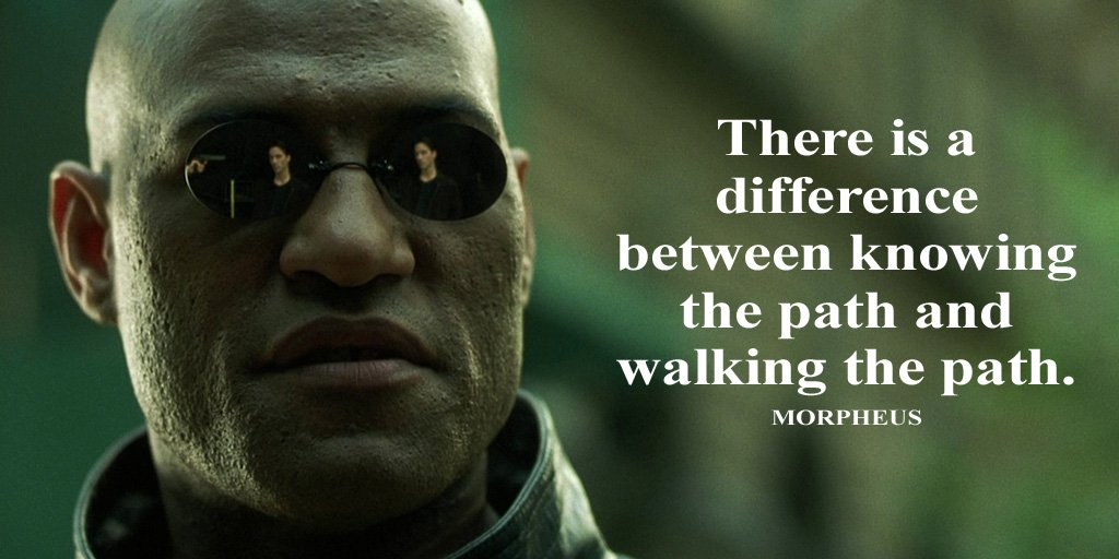 Being different quote There is a difference between knowing the path and walking the path.