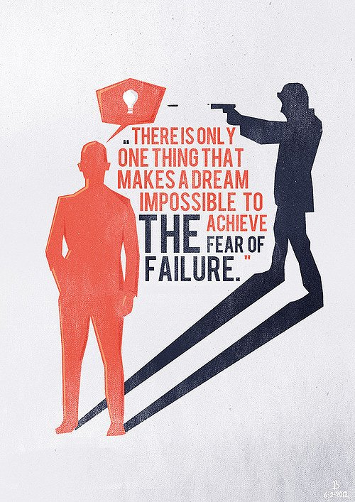 Fear of failure quote There is only one thing that makes a dream impossible to achieve, the fear of fa