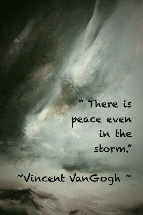 Picture quote by Vincent Van Gogh about peace