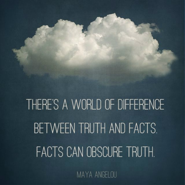 Fact quote There's a world of difference between truth and facts. Facts can obscure truth.