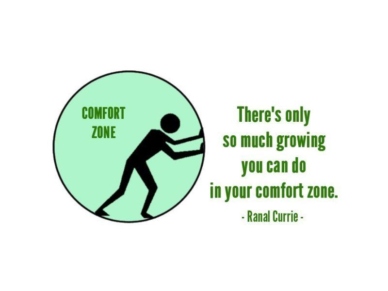 Zone quote Theres only so much growing you can do in your comfort zone.