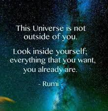 Universe image quote by Rumi