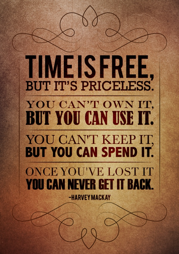 Picture quote by Harvey Mackay about time