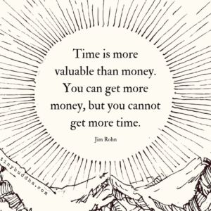 Time is more valuable than money. You can get more money, but you cannot get more time. - Jim Rohn