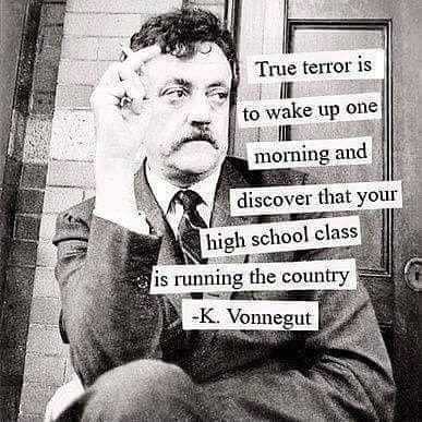 Terrorism quote True terror is to wake up one morning and discover that your high school class i