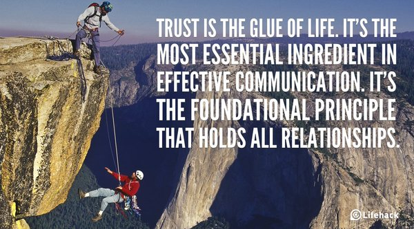 Picture quote by Sayings about trust