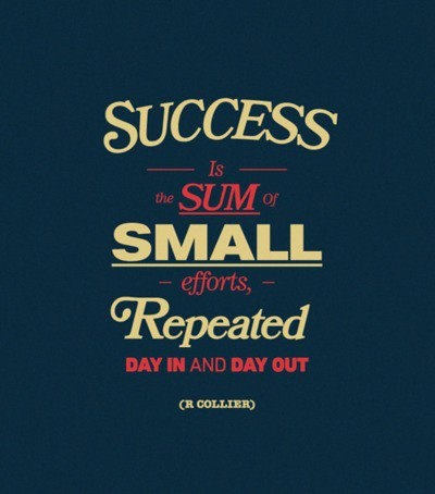 Robert Collier quote Success is the sum of small efforts, repeated day in and day out.