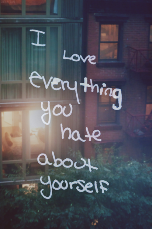 I love everything you hate about yourself -