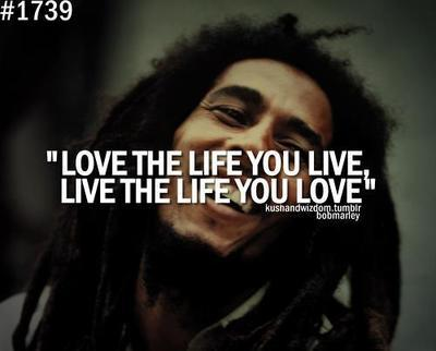 Picture quote by Bob Marley about life