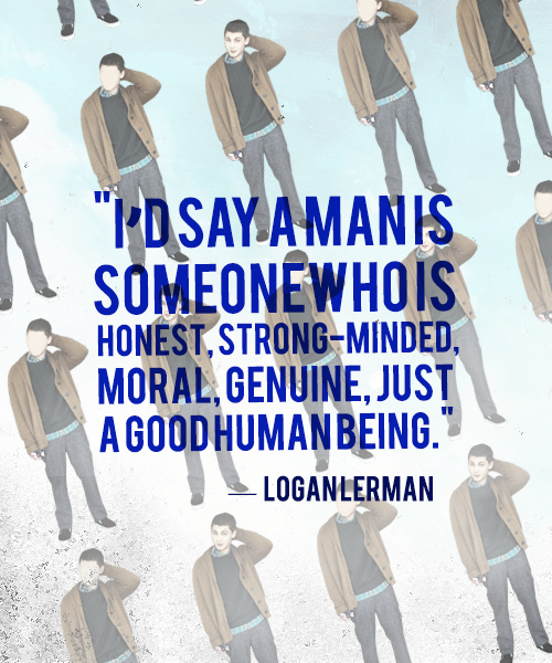 Morals quote I'd say a man is someone who is strong-minded, moral, genuine, just a good human