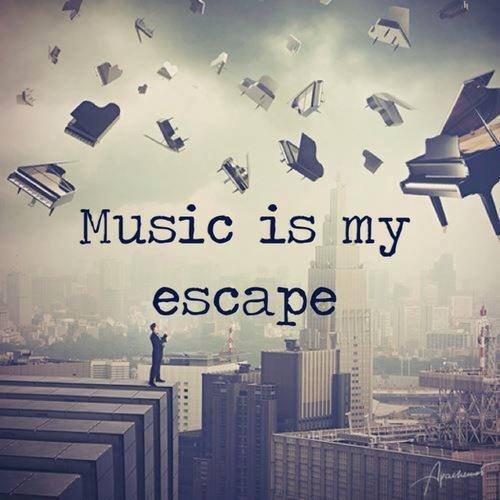 Escaped quote Music is my escape