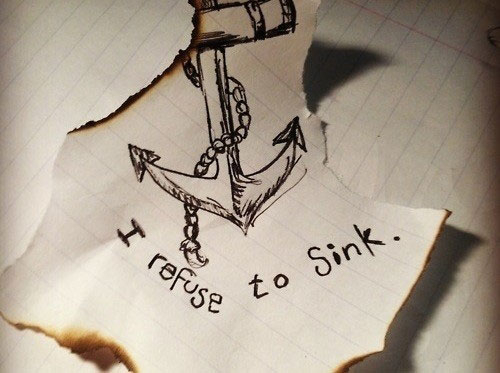 Refusing quote I refuse to sink
