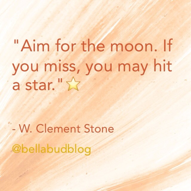 Stars quote Aim for the moon. If you miss, you may hit a star.